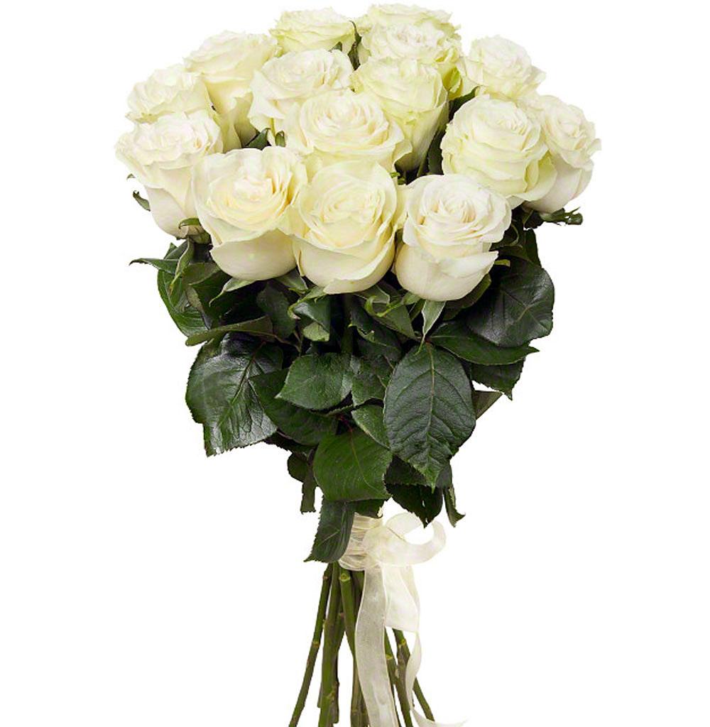 Красивые букеты роз из 15 штук